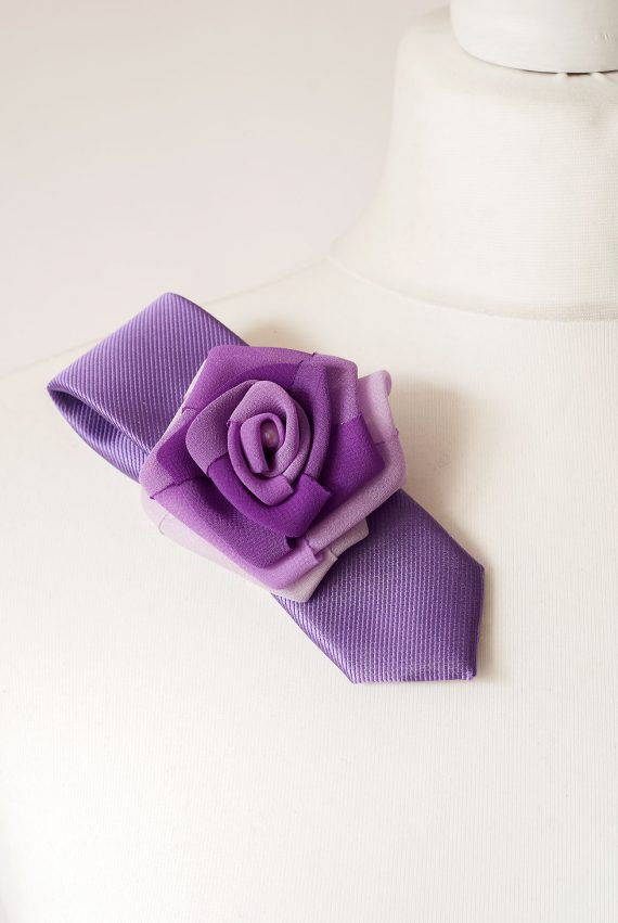 Purple Tie Brooch