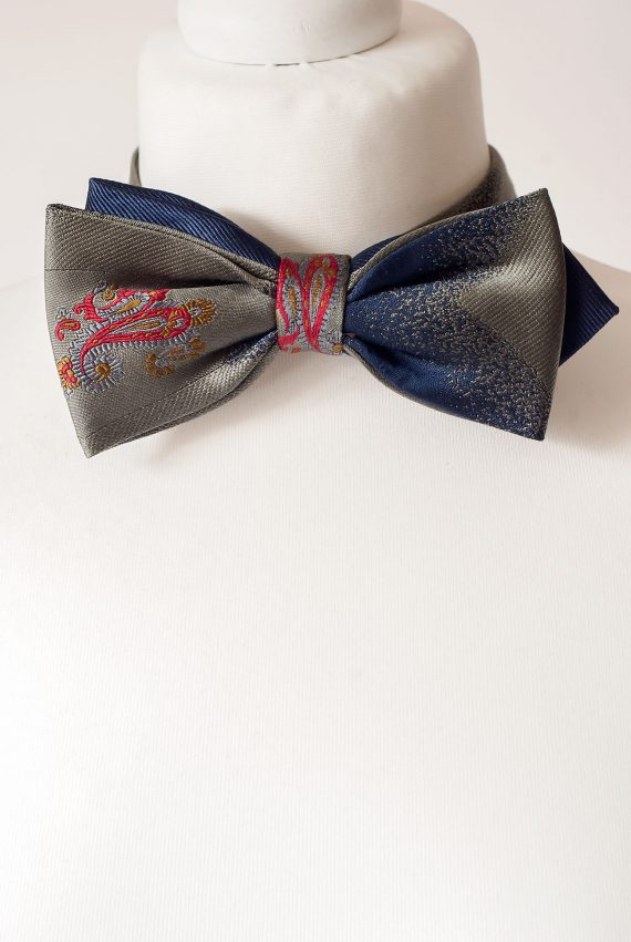 Grey Colour Bow Tie