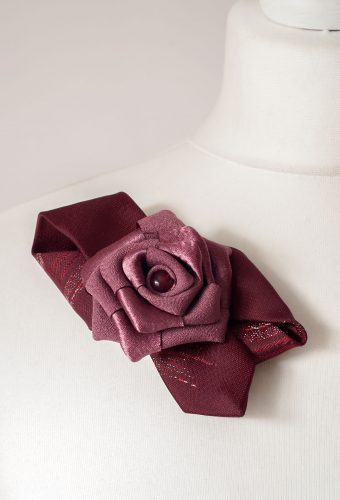 Burgundy Brooch