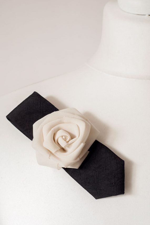 Beige Rose Brooch
