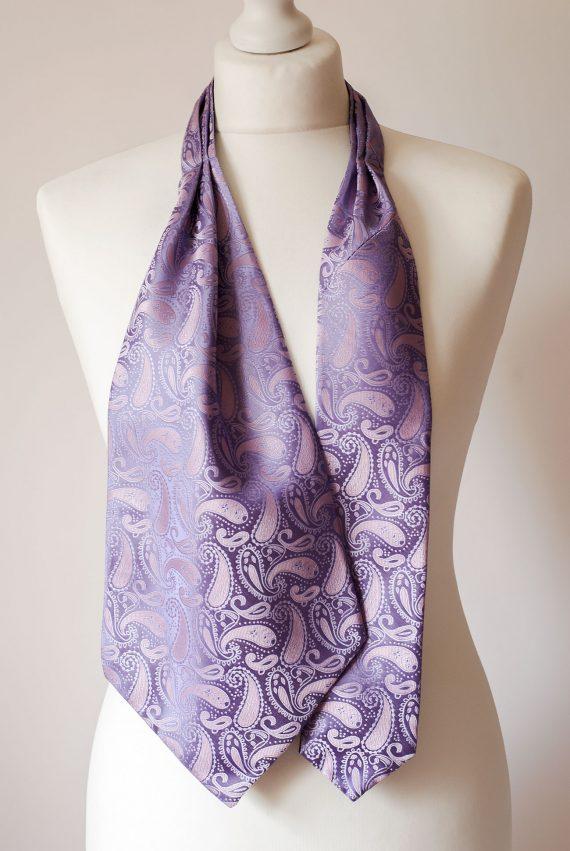 Purple Ascot Tie
