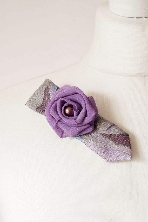 Grey and Purple Brooch