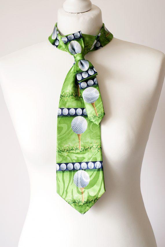 Golf Themed Necktie