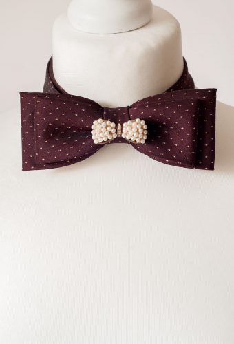 Fancy Burgundy Bow Tie