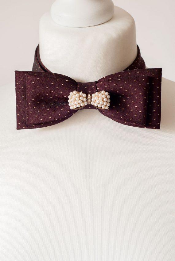 Fancy Burgundy Bow Tie