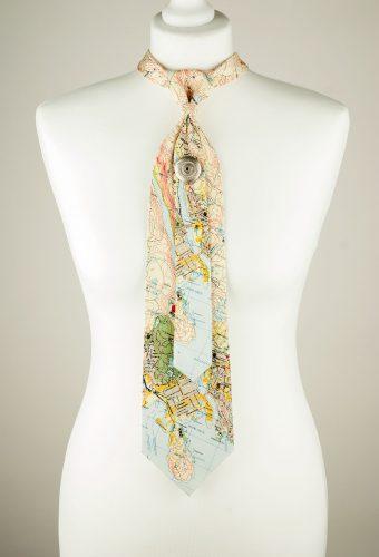 Map Pattern Necktie