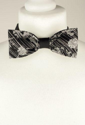 Glitzy Floral Bow Tie