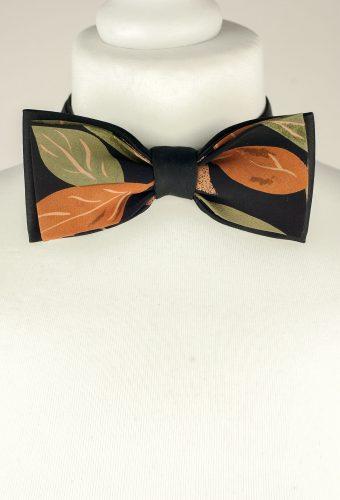 Leaf Pattern Bow Tie