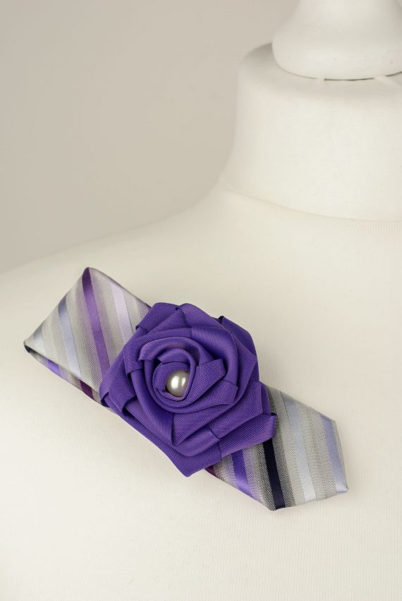 Purple Striped Brooch