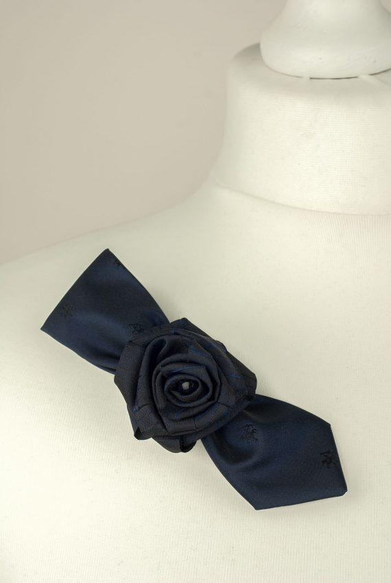 Navy Tie Brooch