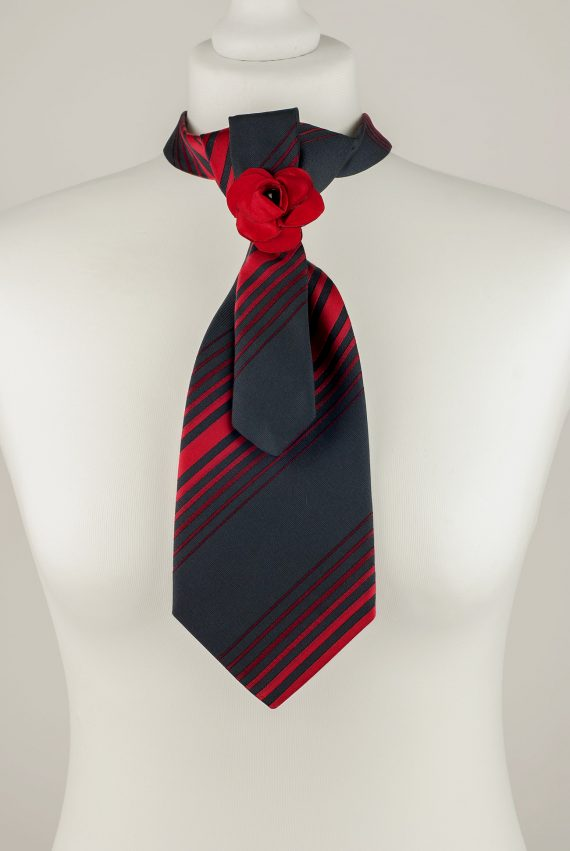 Black and Red Necktie
