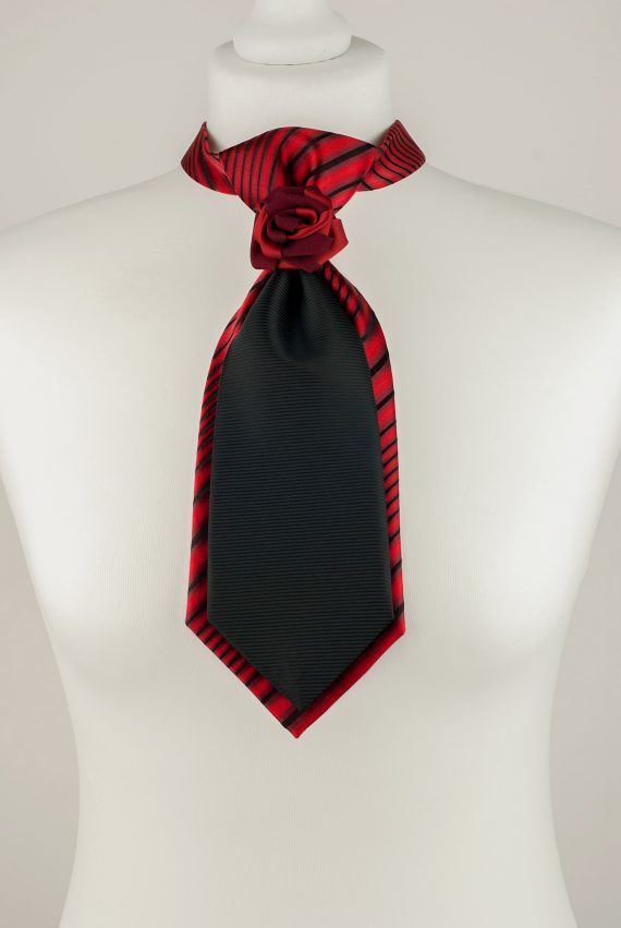 Black and Red Necktie