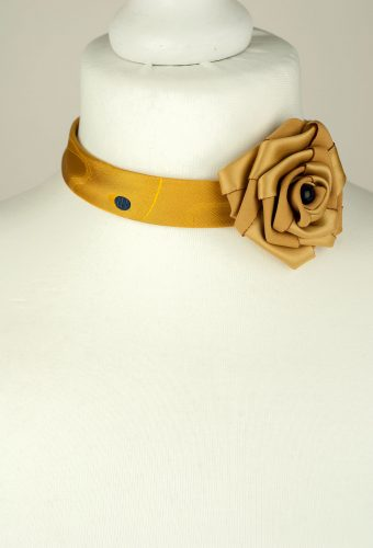 Mustard Colour Tie Necklace