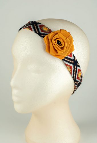 Yellow Rose Headband