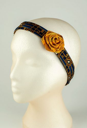 Navy and Gold Headband