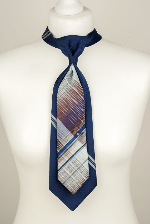 da218ce6f306 Striped Necktie Handmade from Two Vintage Ties. Shipping Worldwide