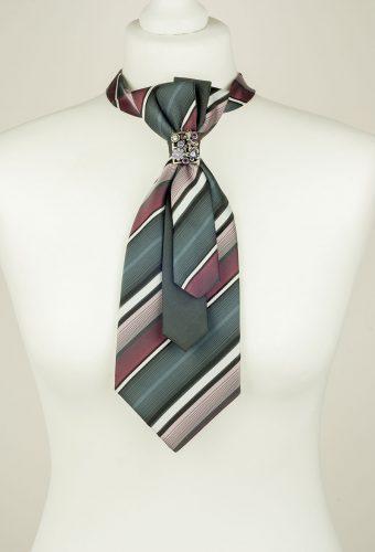 Striped Ladies Necktie