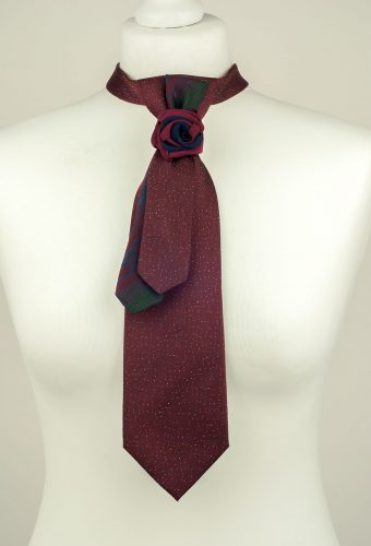 Burgundy Silk Necktie
