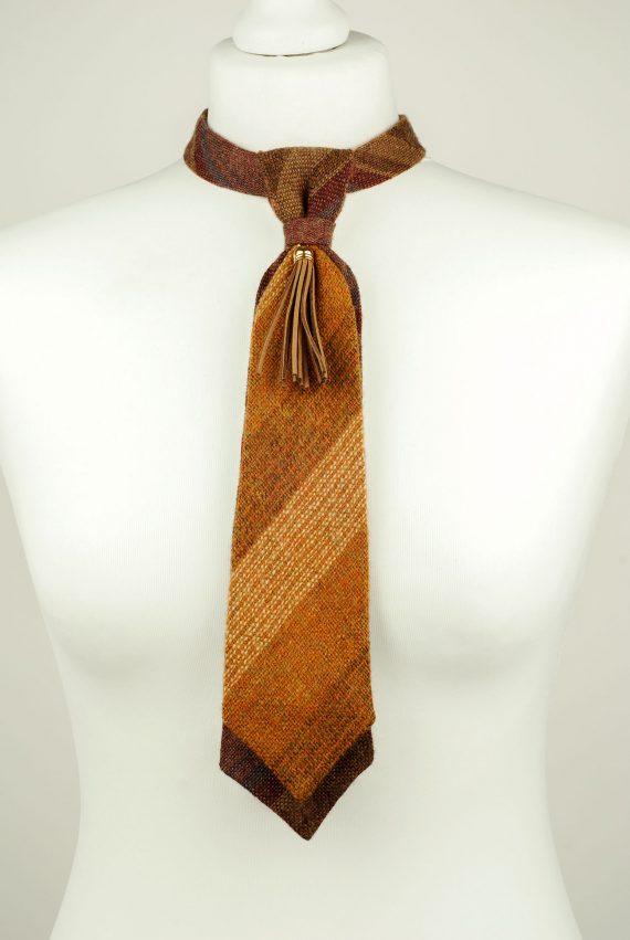 Orange Wool Necktie