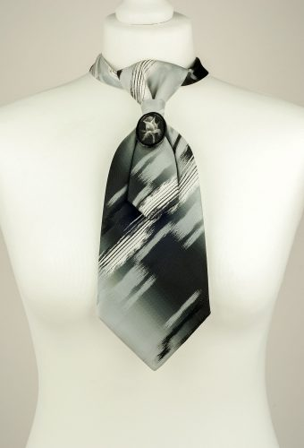 Brush Stroke Pattern Necktie