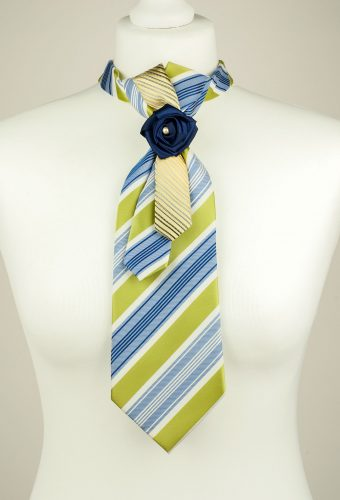 Striped Ladies Necktie