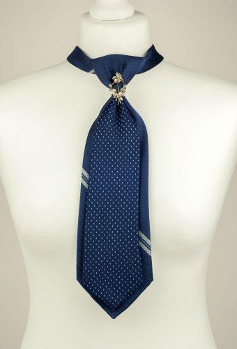 Navy Double Necktie