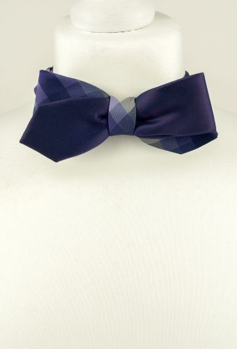 Purple Diagonal Bow Tie