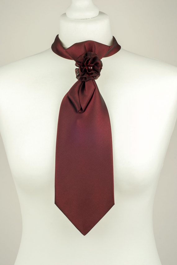 Burgundy Ladies Necktie