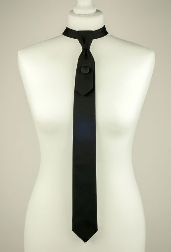 Plain Black Necktie