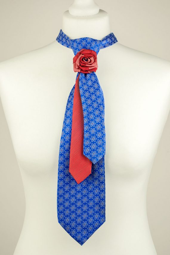 Royal Blue Floral Necktie