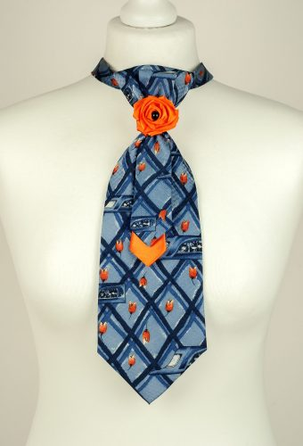 Orange Tulip Necktie
