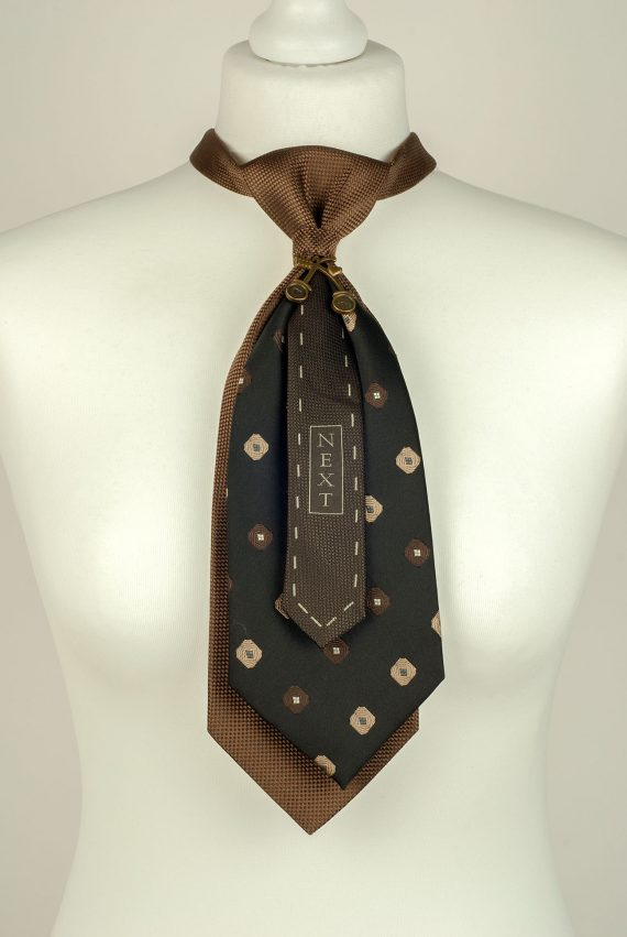 Brown Double Necktie