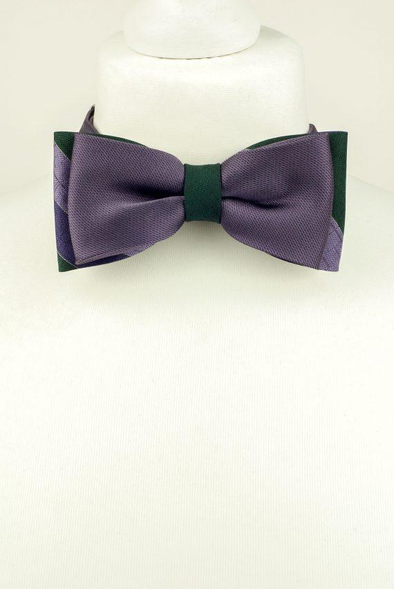 Double Purple Bow Tie