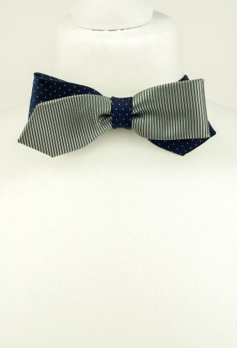 Metallic Grey Bow Tie