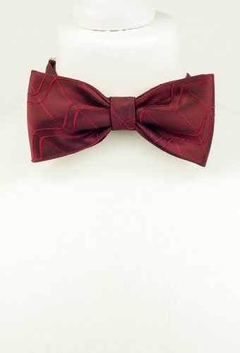 Rich Burgundy Bow Tie