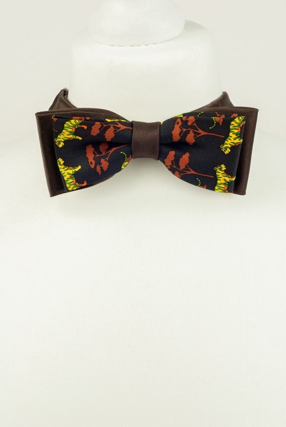 Tiger Pattern Bow Tie