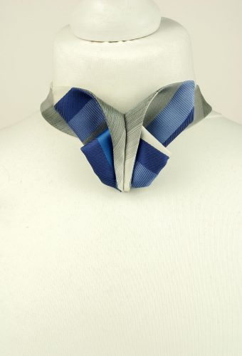 Striped Origami Bow Tie