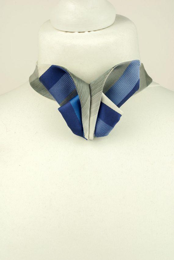 Striped Origami Bow Tie