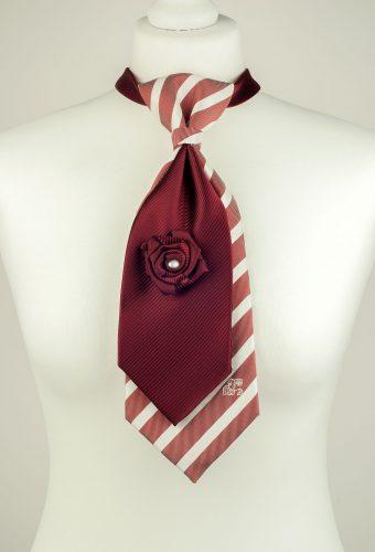 Two Toned Burgundy Necktie