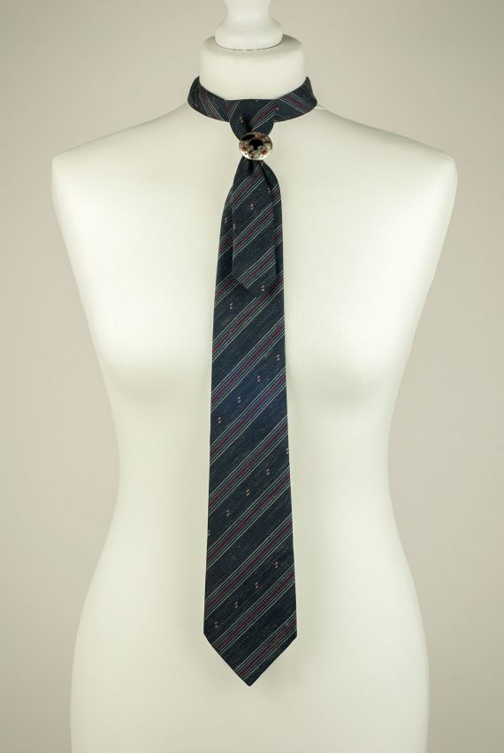 Striped Grey Gents Necktie