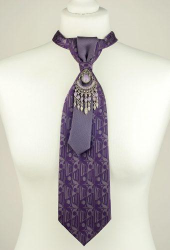 Purple Abstract Pattern Necktie