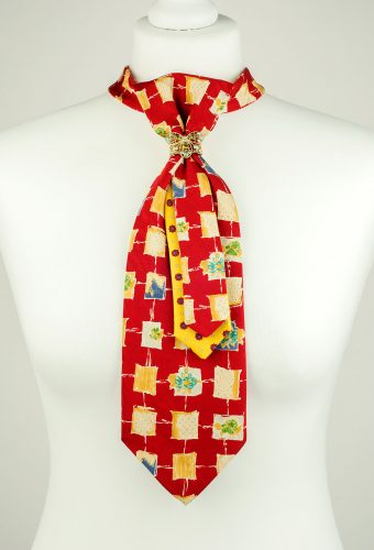Abstract Pattern Red Necktie