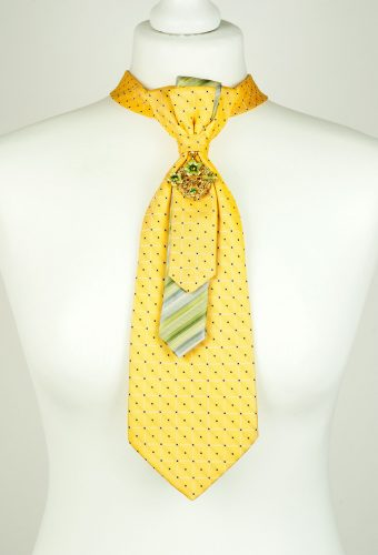 Bright Yellow Necktie