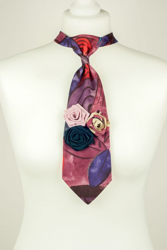 Abstract Print Ladies Necktie