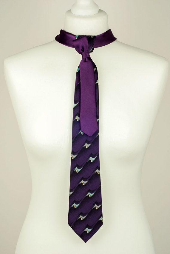 Purple Silk Necktie