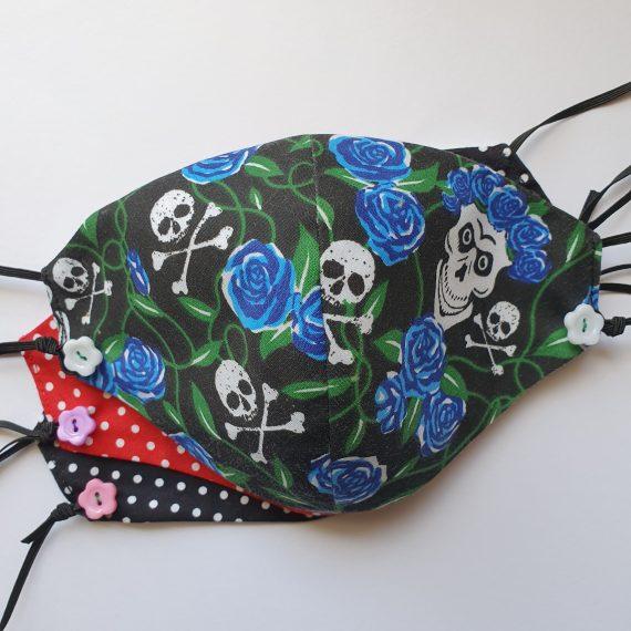 Skulls Blue Roses