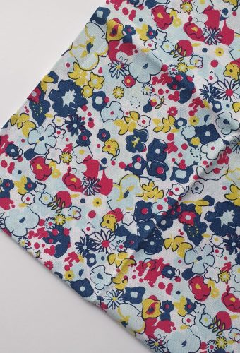 Abstract Floral Print Cotton
