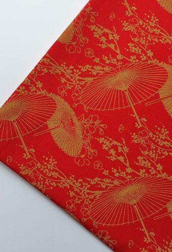 Oriental Parasol Print Cotton