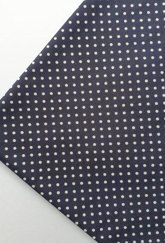 Navy Polka Dot Cotton