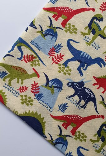 Dinosaur Print Cotton Fabric